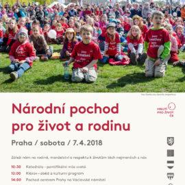 Videopozvánka na Národní pochod pro život a rodinu 2018